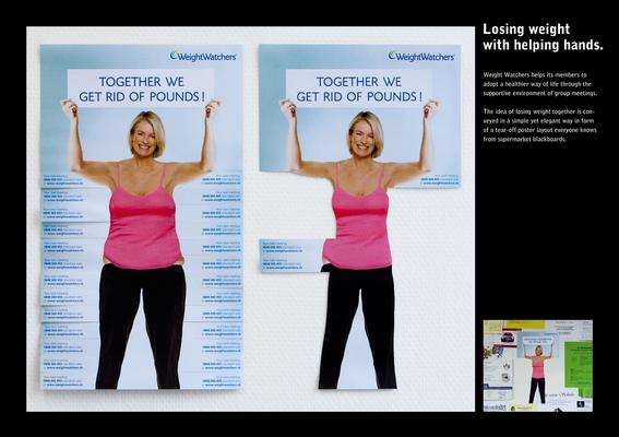 esempio pubblicità creativa weightwatchers bulges