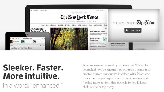 Redesign Sito Web del New York Times