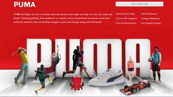 Redesign sito PUMA Caso Studio