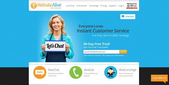 WebsiteAlive Online Live Chat Support